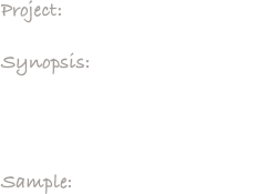 Project:     The American Dream